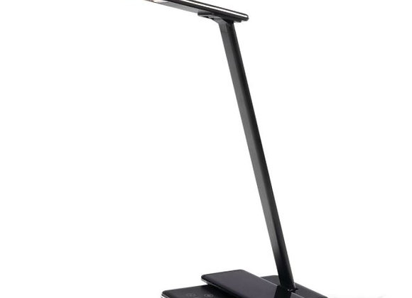 Brilliant Colombo LED Desk Lamp With Wireless Phone Charger Black and White