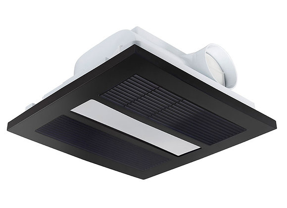 Brilliant Solace 3 in 1 Bathroom Heater Matt Black - 21476/06