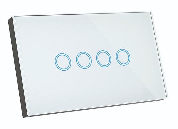 Brilliant Smart SMART WiFi ELITE GLASS WALL SWITCH 4 GANG