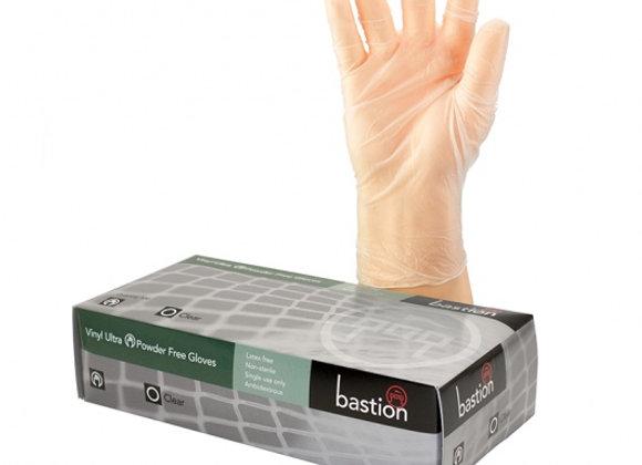 Bastion Vinyl Ultra P/F Clear M/L Gloves 100pcs