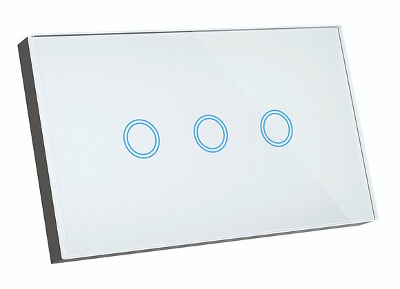 Brilliant Smart SMART WiFi ELITE GLASS WALL SWITCH 3 GANG