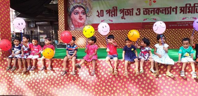 Durga Puja Pandal hopping by SICW children