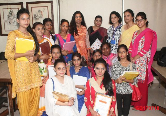 Certificates Awarded to Students of Women's World Beautician Course