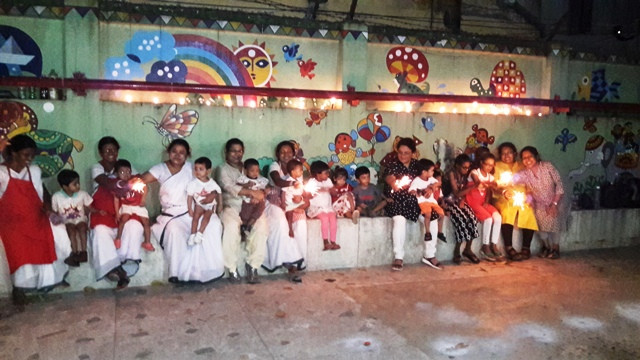 Diwali Lights up the faces of our Children