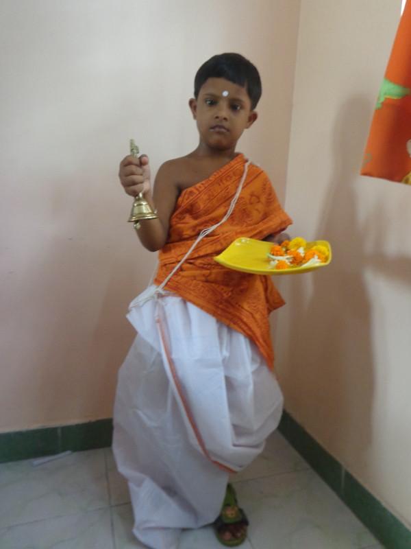Soumya, our handsome hindu priest