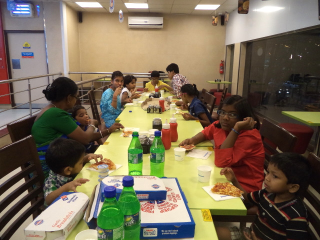 Children of Umeed get a Treat at Domino's Pizza