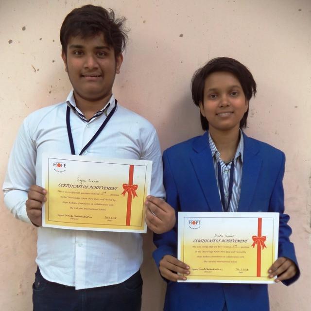 Sayan Sarkar (Class 10) & Shrestha Tapaswi (Class 9)