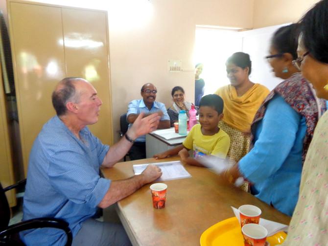 Dr. Andrew Curran visits Jan Seva