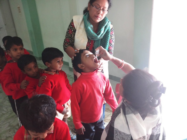 Oral Pulse Polio for Children at Jan Seva