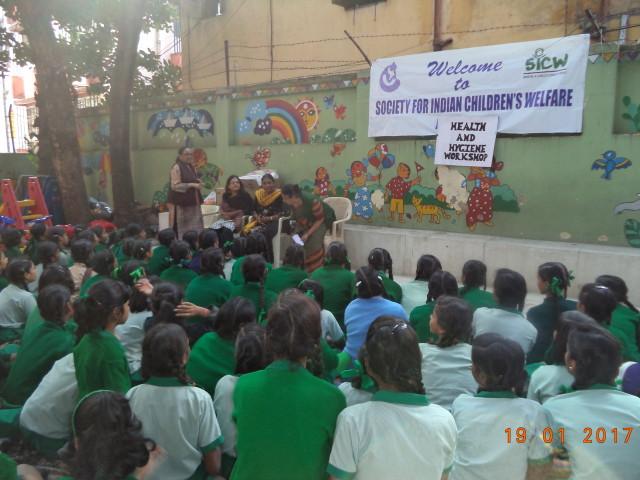 School Girls get Educated on Health & Hygiene at SICW Workshop