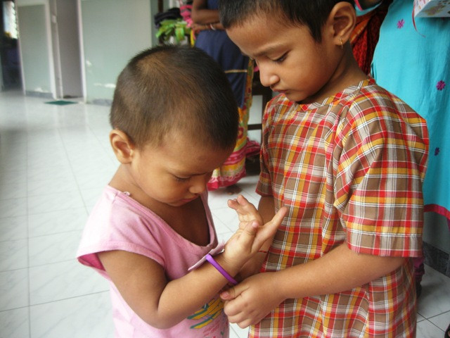 Creche Children celebrate Raksha Bandhan at Jan Seva