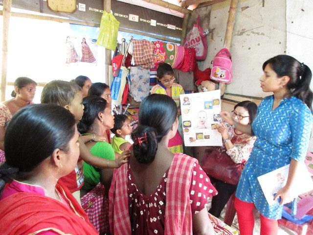 Awareness Campaign with Mother's on Child Health & Nutrition