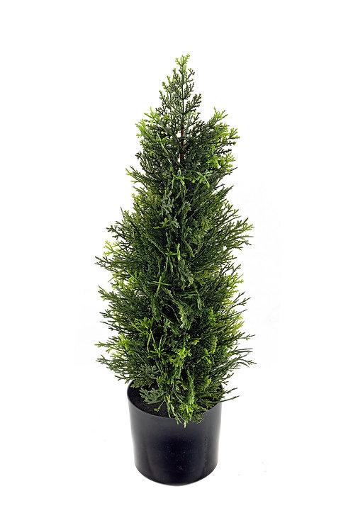 Artificial 60cm Cedar Topiary Tree