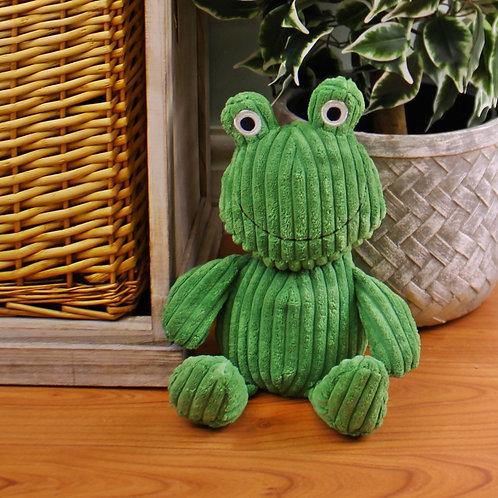 Ribbed Green Frog Doorstop