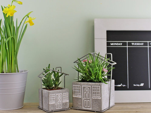 Set of 2 Square House Planters
