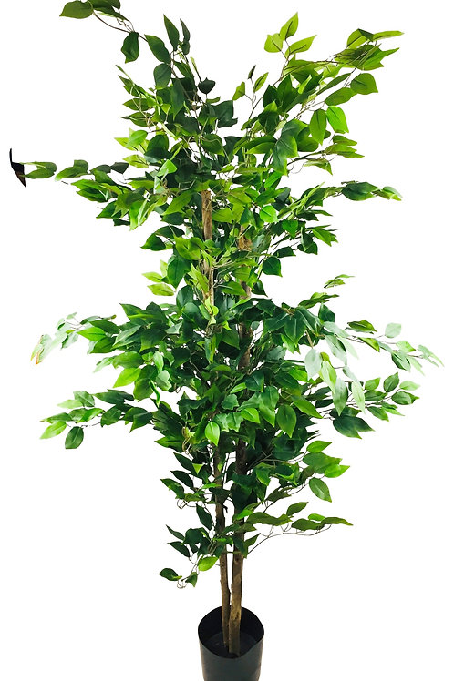 Artificial 180cm Ficus Tree Green Leaves