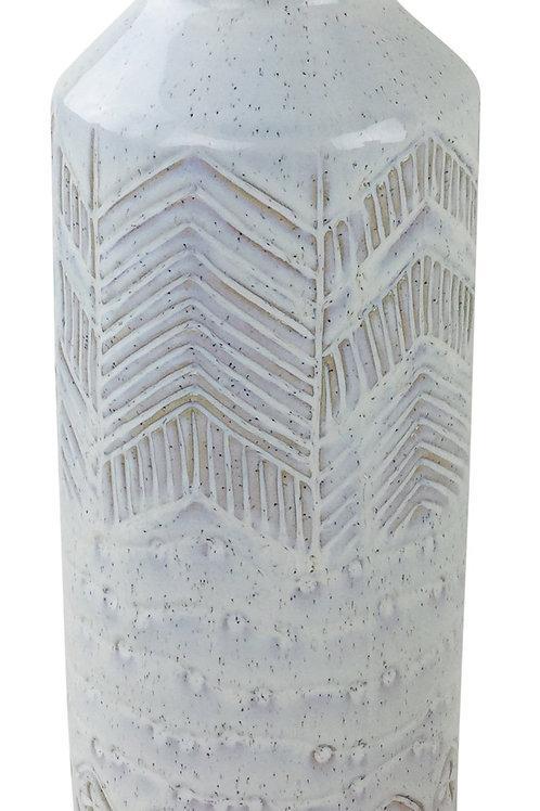 Large Herringbone Stoneware Vase