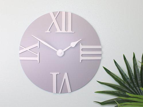 Matte Grey Wall Clock
