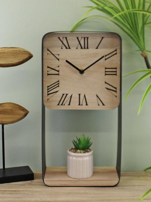 Metal Framed Freestanding Clock