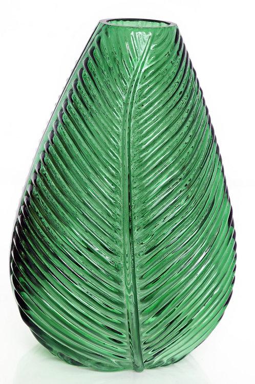 Dark Green Leaf Vase