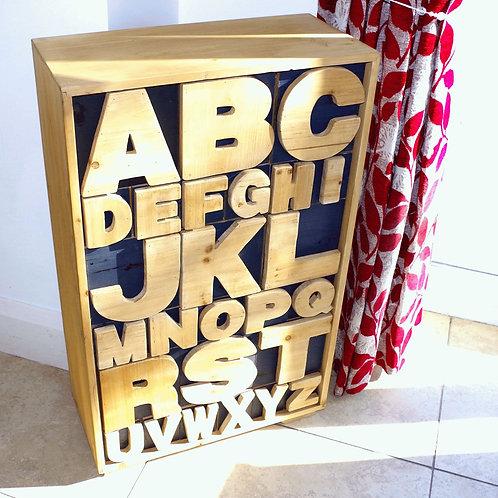 Large Floor standing Alphabet Cabinet