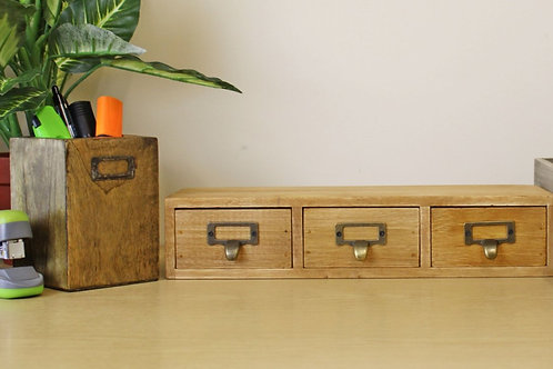 Single Level 3 Drawer Wooden Trinket Drawers
