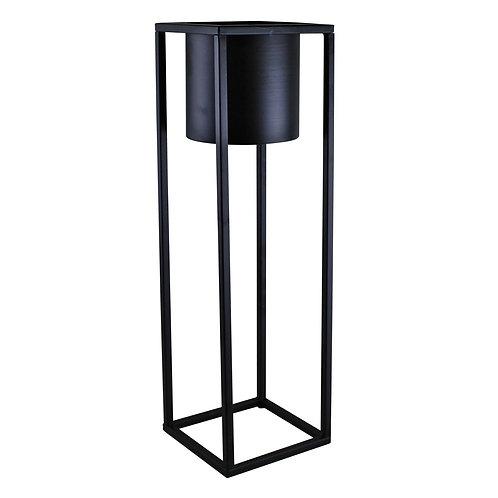 50cm Tall Black Metal Planter