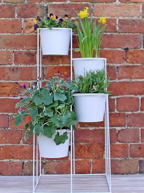Grey 4 Tier Planter
