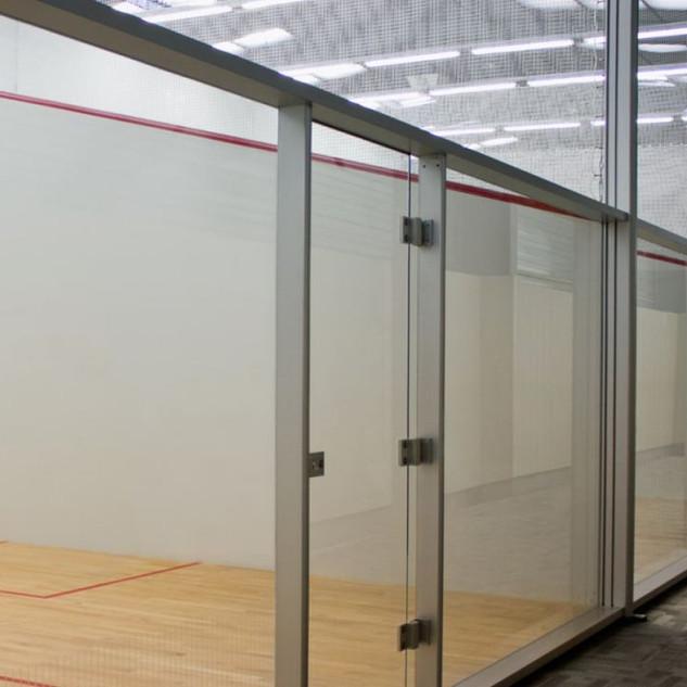 CourtTech Aluminium Post Glass Back Wall