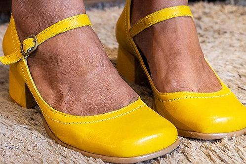 Sapato Boneca Retrô Citrus Couro de Carneiro  Ref. 328.45
