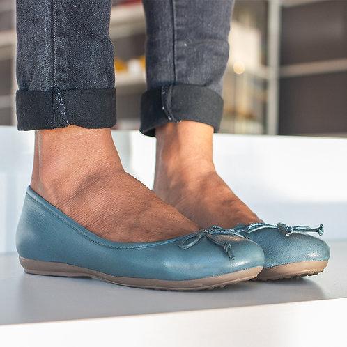 Sapatilha Jeans Couro de Carneiro  Ref. 374.545