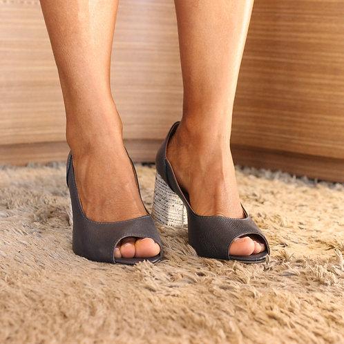 Peep Toe Azul Marinho Ref. 1.240