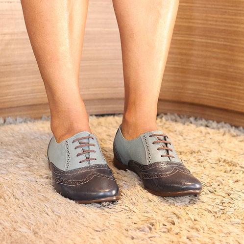 Oxford Marinhpo/Jeans Couro de Carneiro  Ref. 240.125