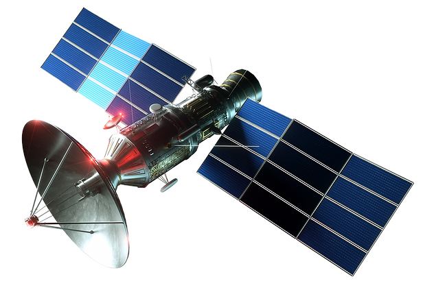 space-satellite-with-dish-antenna-and-so