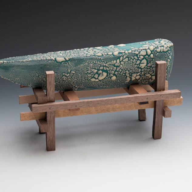 Dry Docked I, Ceramic and Wood, 11_x 6_