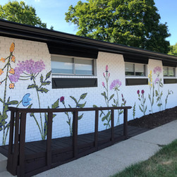 Megan Jefferson's Wildflower Mural detail