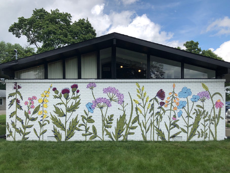 Flower Murals for this Rad Dentist Office!