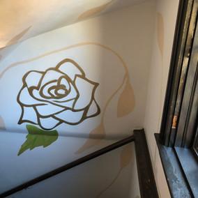 Rose mural