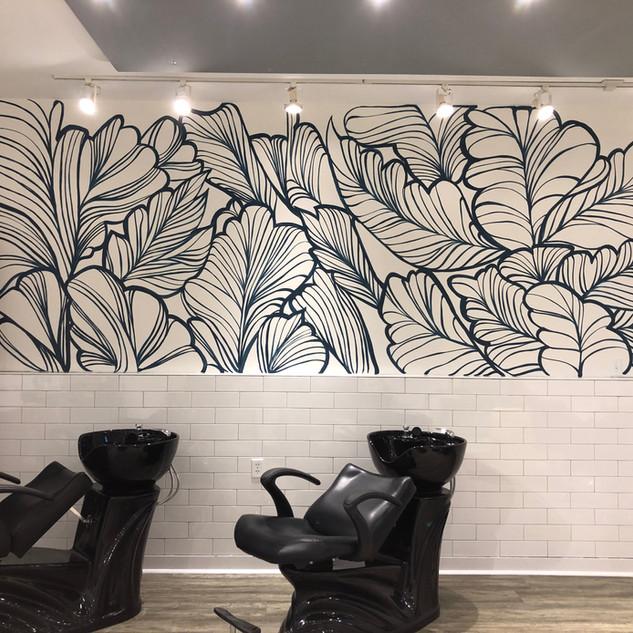 Leaf mural Megan Jefferson