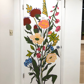 Interior Floral Door Mural