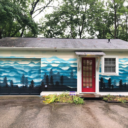 Mountain Ombre Mural