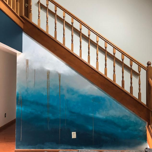 Interior Ombre mural