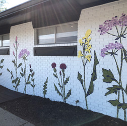 Megan Jefferson's Wildflower Mural, nort