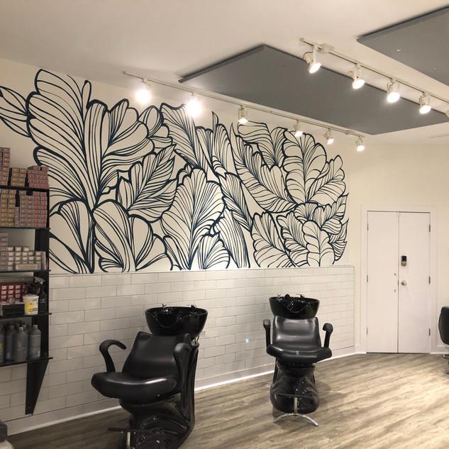 Mural in Hair Salon, Delaware Blu Salon