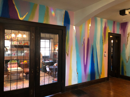 Bold Foyer Mural Before/After