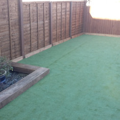 Artificial Grass, Fencing, Sleepers, Art