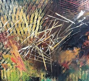 Mark Making Landscape Detail