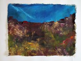 Canvas Cloth Landscape Experiment 4