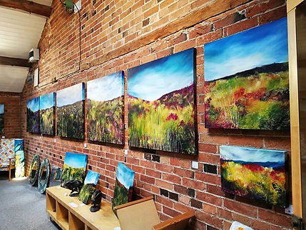 I am so happy to finally see all my hard work on display! I absolutely love my paintings a