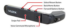 Vuzix M300 controls for Augmented reality Remote Adviser 3